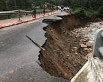 Lo ngại taluy đất ngậm nước gây sụt lở trên các tuyến quốc lộ qua miền Trung