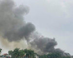 Cháy cửa hàng vật liệu xây dựng ở Hà Nội, không có thương vong