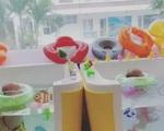 Hồ Ngọc Hà cho con sinh đôi tập bơi