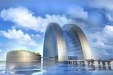 Khách sạn nổi tỷ đô hình trăng khuyết được xây dựng ngoài biển