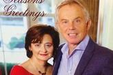 Cựu thủ tướng Anh Tony Blair và tấm thiệp Giáng sinh lạ lùng