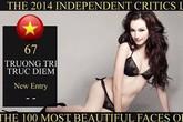 """Trúc Diễm vào Top 100 """"Gương mặt đẹp nhất thế giới 2014"""""""