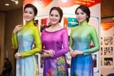 Phạm Thu Hà đọ sắc áo dài cùng Hoa hậu Kỳ Duyên