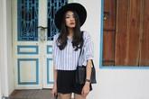 Nàng sinh viên mặc tinh tế với phong cách tối giản