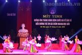 Hà Tĩnh: Mít tinh hưởng ứng Tháng hành động Quốc gia về Dân số