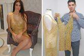 Lóa mắt với chiếc váy bằng vàng ròng nặng nhất thế giới