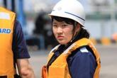 """Những """"bóng hồng"""" xinh đẹp trên tàu Cảnh sát biển Nhật Bản tới Đà Nẵng"""