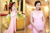 Hoa hậu Việt diện đầm hồng pastel ngọt ngào trên thảm đỏ