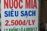 So giá hàng bình dân ở Hà Nội, Sài Gòn