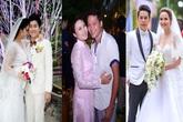 Mỹ nhân Việt bất ngờ khi gặp sự cố trong đám cưới