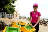 AN TRĨ VƯƠNG chung tay giữ sạch môi trường biển đảo Lý Sơn cùng Hoa hậu Việt Nam 2016