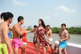 Kim Lý, Thái Hòa mặc quần đùi lòe loẹt, đánh nhau trên du thuyền