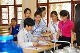Nghệ An: Trên 98% thí sinh đến làm thủ tục dự thi