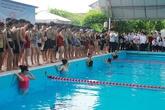 Hải Phòng: Học sinh thi bơi cổ vũ phong trào chống đuối nước