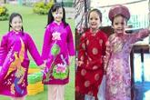 Các nhóc tỳ nhà sao Việt đẹp lung linh trong trang phục áo dài đón Tết