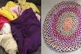 Đừng vứt quần áo cũ đi, đan ngay thành thảm trải nhà đỡ tốn tiền mua
