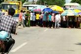 Thanh Hóa: Hàng trăm công nhân tràn ra đường đòi quyền lợi
