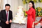 """Diện áo dài 8 triệu đồng trong lễ ăn hỏi: Hoa hậu Thu Ngân giản dị hay """"keo kiệt""""?"""