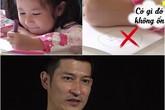 Huy Khánh lo lắng vì con gái quen viết chữ bằng tay trái