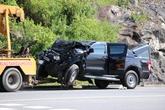 Xe bán tải đâm trực diện xe khách trên đường dẫn Nam hầm Hải Vân, 4 người bị thương