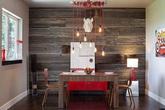 Phòng ăn hiện đại đến kinh ngạc nhờ gỗ tái chế