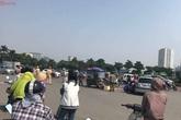 Hà Nội: Chồng phanh xe gấp, vợ ngã xuống đường tử vong