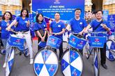 Hàng trăm thanh niên đạp xe, truyền thông điệp phòng chống ung thư