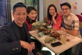 HH Thu Hoài e ấp bên bạn trai, cùng vợ chồng 'ngôi sao TVB' Hồ Hạnh Nhi ăn tối