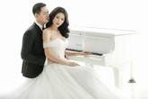 Trang Trần khoe ảnh cưới ngọt ngào bên ông xã Việt kiều