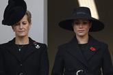 Meghan Markle bị chê gương mặt ảm đạm, không thể chán hơn khi tiếp tục xuất hiện cùng chị dâu Kate