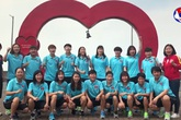 """Các cô gái """"vàng"""" của bóng đá nữ gửi lời chúc """"tiếp lửa"""" cho các cầu thủ U22 Việt Nam"""