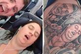 Người chồng gây tranh cãi khi xăm hình vợ đang ngủ