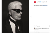 Giữa sóng gió, Song Hye Kyo bày tỏ niềm thương tiếc trước sự ra đi của Karl Lagerfeld cùng bộ hình ấn tượng