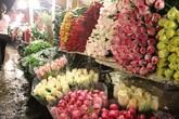 Tấp nập chợ hoa đêm Quảng An trước ngày Quốc tế Phụ nữ 8/3