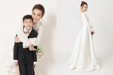 Đàm Thu Trang khoe ảnh cưới chụp bên con riêng của Cường đô la