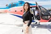 Đỗ Mỹ Linh đi chơi bằng trực thăng sau ồn ào tình ái