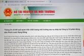 Thông tin kết quả quan trắc môi trường sau cháy Công ty Rạng Đông bất ngờ bị gỡ bỏ khỏi Cổng thông tin Bộ TN&MT