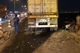 Vụ xe container đâm hàng loạt xe máy trên cầu Thanh Trì: Tài xế lái xe container gây tai nạn khai gì?