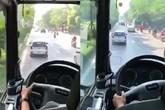 Bức xúc trước video cảnh sát PCCC gọi loa khản cổ nhưng xe ô tô không nhường đường