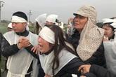 Nỗi đau tột cùng và tiếng khóc xé lòng của người dân quê nơi đại tang tiễn biệt