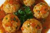 Công thức cho món thịt viên sốt cà chua cực ngon miệng