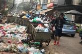 Phố An Dương (Tây Hồ - Hà Nội) ngập rác những ngày giáp Tết