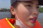 Thuyền cứu trợ của Hoa hậu Kỳ Duyên bị lật