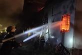 Hà Tĩnh: Cháy kho sơn trong đêm, nhiều tài sản bị thiêu trụi