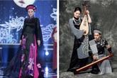 """Nhà thiết kế """"tố"""" áo dài La Sen Vũ ở Hoa hậu Việt Nam giống 70% của mình: Đó là khăn Campuchia chứ không phải khăn rằn"""