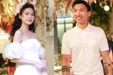 """Không thừa nhận hẹn hò, Đoàn Văn Hậu vẫn công khai bên cạnh khi """"bạn gái tin đồn"""" Doãn Hải My mặc váy cưới"""