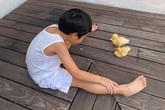 Bất ngờ với vóc dáng của cậu nhóc nhà Tăng Thanh Hà, mới 5 tuổi mà đã phổng phao, đáng yêu thế này