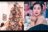 Nhìn cách Tăng Thanh Hà trang trí Giáng sinh đã thấy toát lên vẻ giàu sang, quý phái