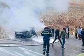 Tai nạn thương tâm: Xe ô tô bốc cháy, 1 người tử vong, 2 người bị thương