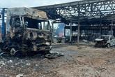 Hiện trường vụ cháy kho vật tư Hải quan Lào khiến nhiều người thương vong
